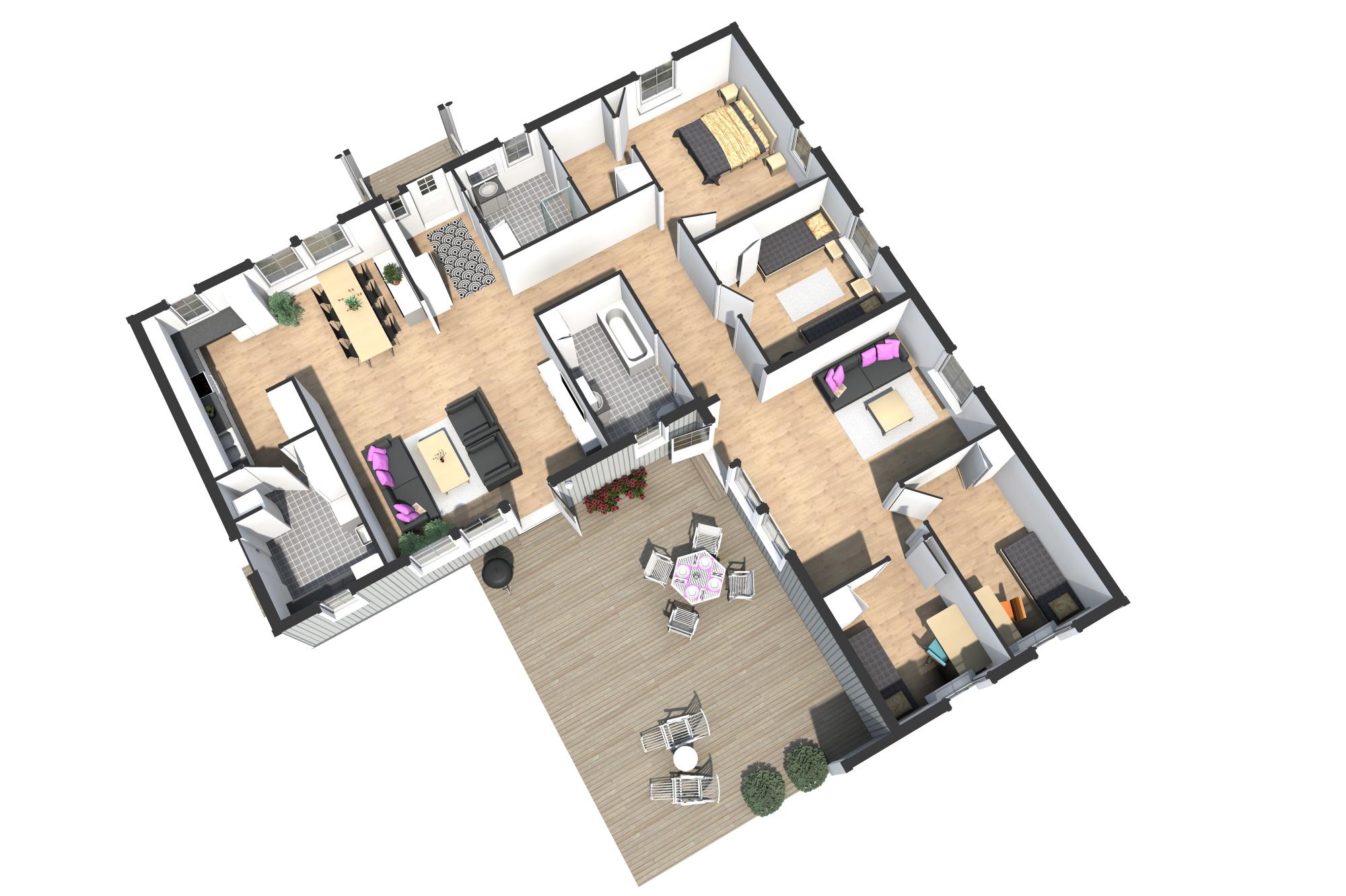 3d ritning på älvsbyhus modell regin